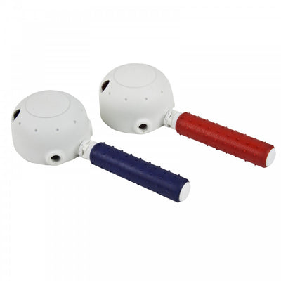 The image shows both the red and blue Derby Tap Turners