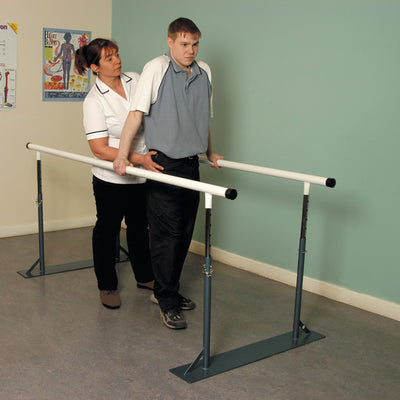 Height-Adjustable-Adult-Parallel-Walking-Bars One set