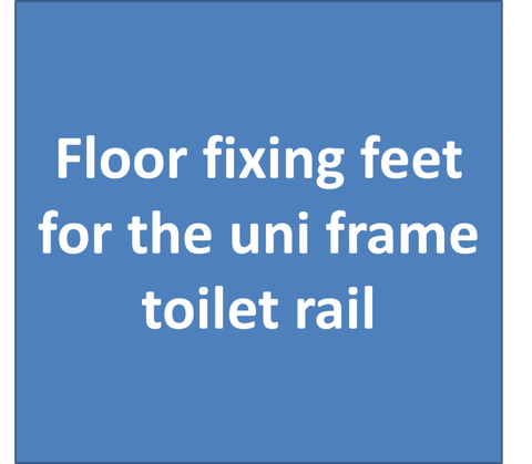 Fixing-Feet-for-Uni-Frame-folding-toilet-rail Screw Down Feet for Uni-Frame folding rail