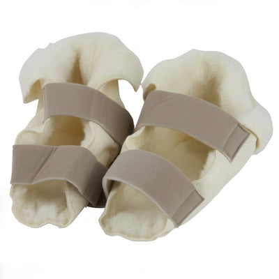 Fleece Heel Protectors Open Slippers