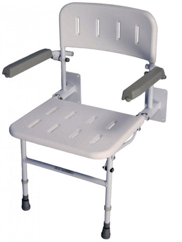 Folding-Shower-Seat-With-Legs Folding Shower Seat with Legs, Back and Arms