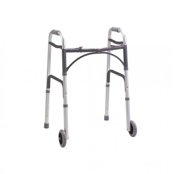 Folding-walking-Zimmer-Frame-with-wheels One size
