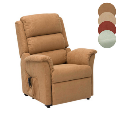 the image shows the gold coloured nevada dual motor rise and recline chair