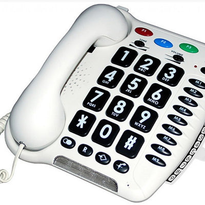 Geemarc-CL100-Big-Button-Amplified-Telephone White
