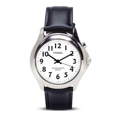 Lifemax-Gentlemans-Talking-Watch---Leather-Strap One size