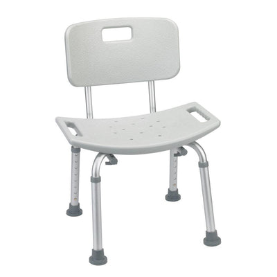 The image shows the bath bench with a back