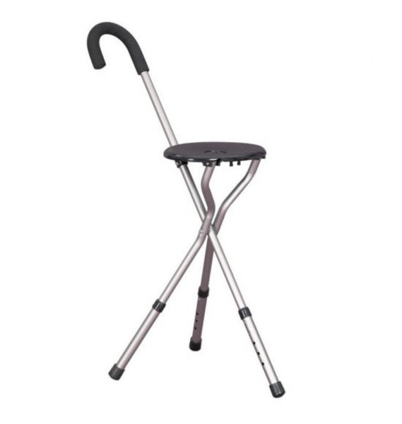 The image shows the height adjustable stick seat