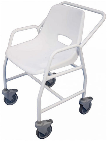 Hythe-Mobile-Shower-Chair-With-Castors Height Adjustable
