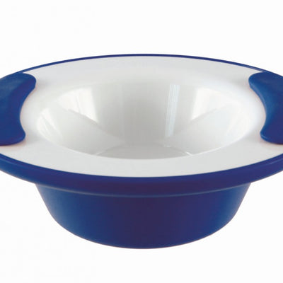 the image shows the ornamin keep warm bowl in blue