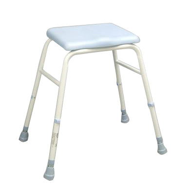 image shows the adjustable height PU perching stool