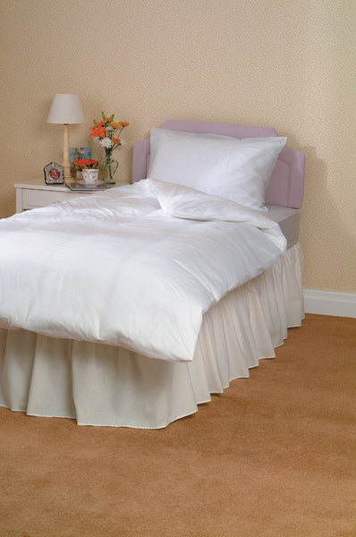 the image shows the waterproof bedding protector on a single duvet cover