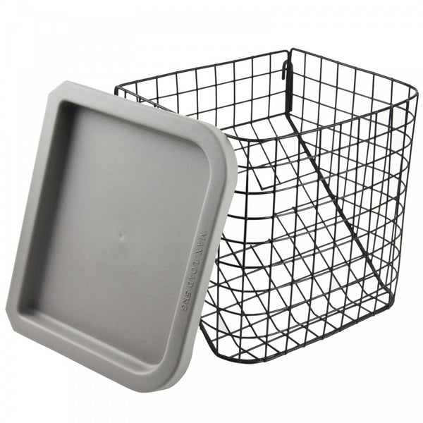 The image shows the Large Basket and Tray for Three-Wheeled Rollator