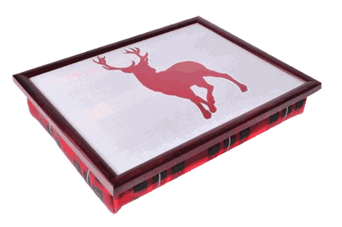 Luxury Tartan Stag Cushioned Lap Tray