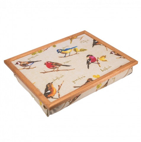 luxury wild birds cushioned lap tray ability superstore. Black Bedroom Furniture Sets. Home Design Ideas