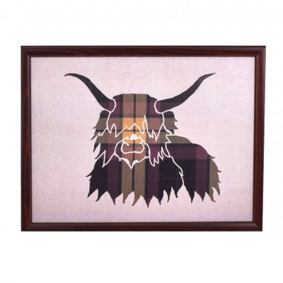 Luxury Highland Cow Cushioned Lap Tray