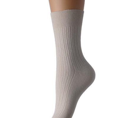 Feet Retreat Lightweight Seamless Socks Beige Oedema Socks