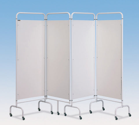 Mobile-Folding-Screens---3-Fold-Blue-Patchwork-Screen Mobile Folding Screens - 3-Fold Blue Patchwork Screen