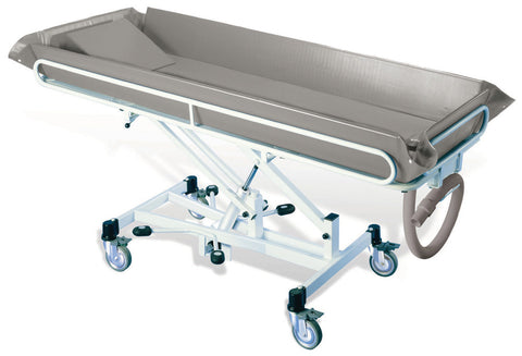 Chiltern-Invadex-Shower-Trolley T1 Hydraulic Height Adjustable