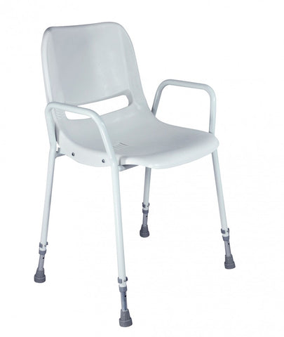 Milton-Stackable-Shower-Chair Adjustable Height
