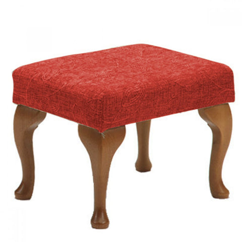 Optional-Footstool-to-complement-the-Queen-Anne-Fireside-Chair Crimson