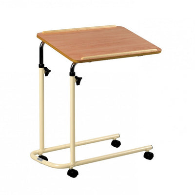 the image shows the overbed/overchair table, with wheels
