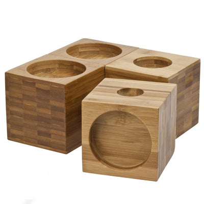 the image shows the 4 inch panda bamboo furniture raisers
