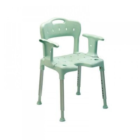 Patterson Medical - Swift Shower Stool with Back & Arms - Green