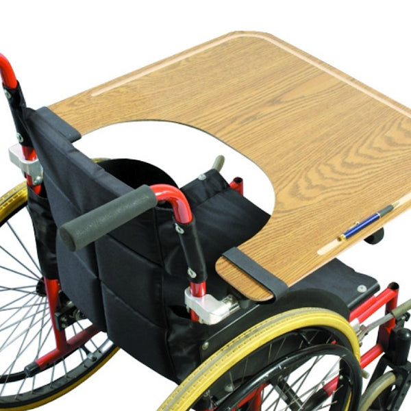 the image shows the wheelchair lap tray