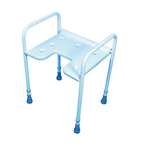 Adjustable-Height-Gap-Front-Shower-Stool Adjustable Height Gap Front Shower Stool