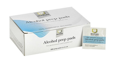 Reynard 70% Isopropyl Alcohol Prep Pads - Pack of 100 Dual Sachets