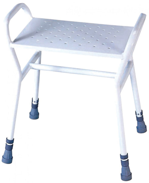 image shows the Rochester shower stool against a white background