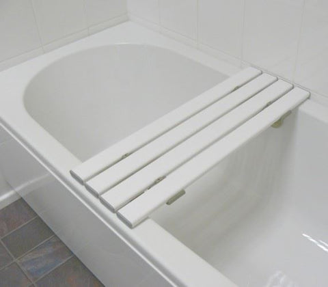 White Slatted Bath Board