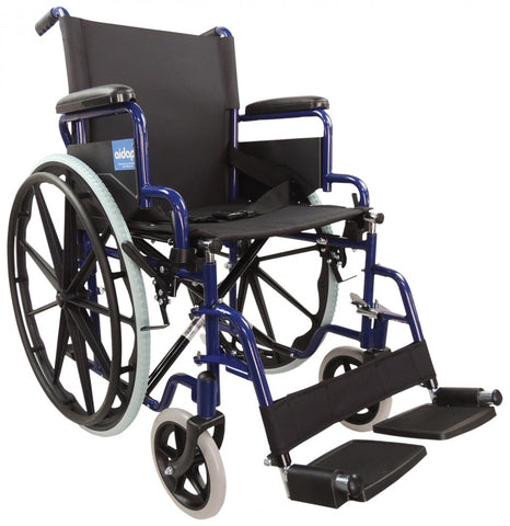 Self-Propelled-Steel-Wheelchair Blue