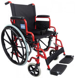 Self-Propelled-Steel-Wheelchair Red