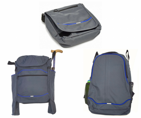 The image shows the set of 3 wheelchair bags