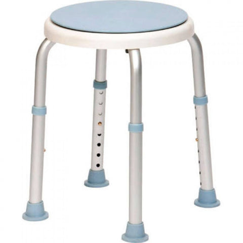 Shower-stool-with-swivelling-seat White/blue