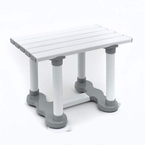 Slatted-white-bath-seat 6 inch