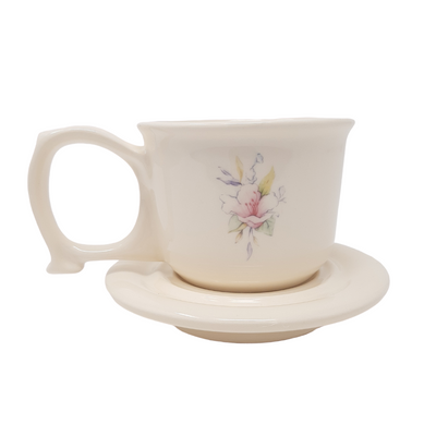 Secure Grip Large Handled Cup and Saucer | Taffeta Floral