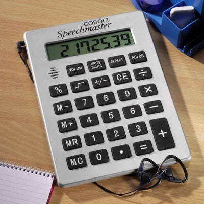 the image shows the talking desktop a4 calculator