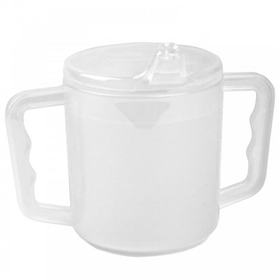 Two-Handled-Mug One mug with 2 lids