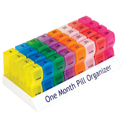 Colourful One Month Pill Organiser