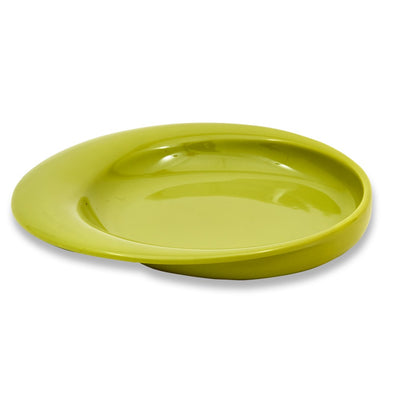 the image shows the wade dignity sloped plate in green