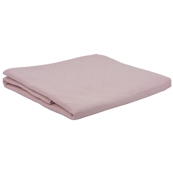 The image shows the pink washable bed pad