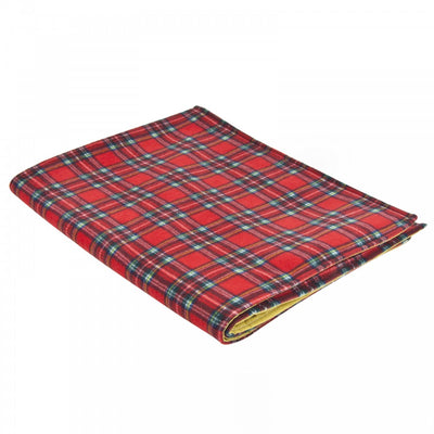 Water-Resistant-Cosy-Fleece-Blanket-ideal-for-wheelchairs,-watching-the-TV,-on-the-plane Red Royal Stewart/Ochre Yellow