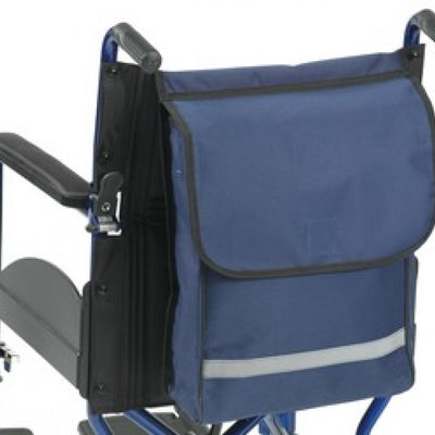 The image shows the navy Wheelchair / Scooter / Powerchair Seat Bag for mobility aids