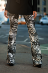 Celeta Pant - Limited Edition Feather Print Denim