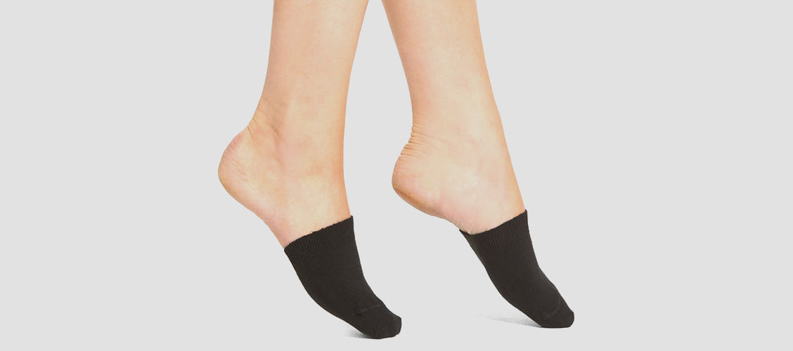 Woman wearing toe covers - Types of Socks