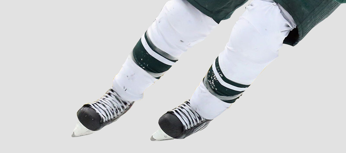 Hockey player wearing white hockey socks - 10 Unexpected Socks