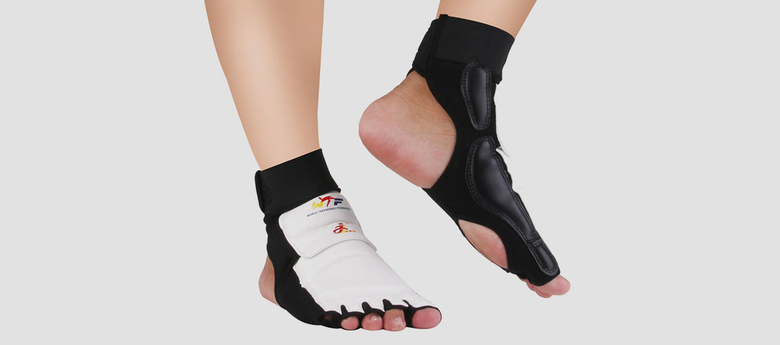 Man wearing martial arts foot protectors - 10 Unexpected Socks