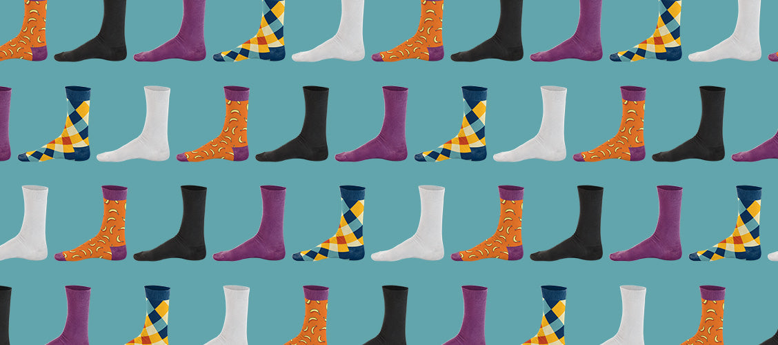 Repeated pattern of different colors of socks - What Do Your Socks Say About You